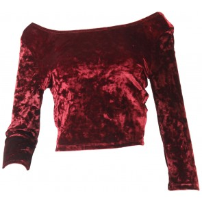 Pull & Bear Maroon Low Back Cropped T-Shirt