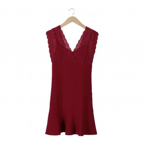 Guess Red Bodycon Lace Mini Dress