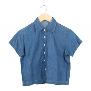Blue Cropped Shirt
