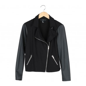 Forever 21 Black Combi Leather Jaket