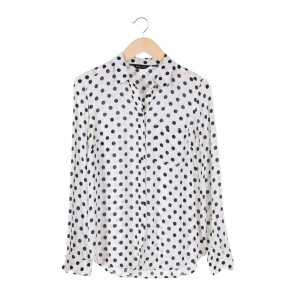New Look White Dotted Shirt