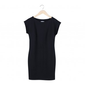 H&M Black Basic Midi Dress