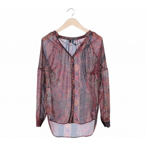 Mango Multi Colour Batik Blouse