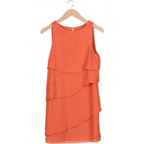 Orange Layered Midi Dress