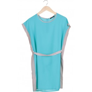 Turquoise Tunic Blouse Mini Dress