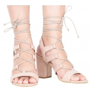 The Editor´s Market Pink Lace Up Heels