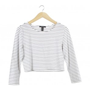 Forever 21 White And Black Striped Blouse