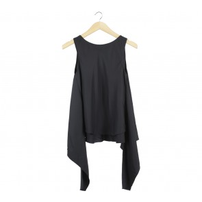 Shop At Velvet Black Asymmetric Sleeveless