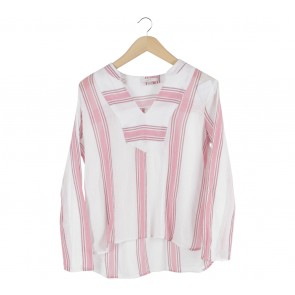 Esprit White And Pink Striped Blouse