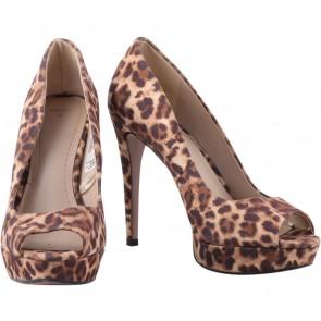 Mango Multi Colour Leopard Platform Heels