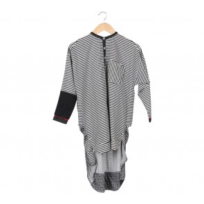 Oline Workrobe Multi Colour Asymmetric Blouse