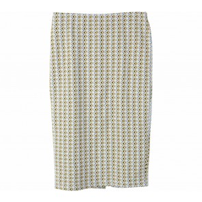 Zara Yellow And White Patterned Skirt