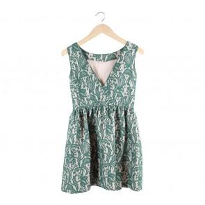 Zara Green Lace Mini Dress