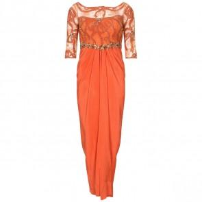 Biyan Orange Midi Dress