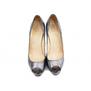 Christian Louboutin Silver Heels