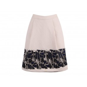 Lela Rose Cream Skirt