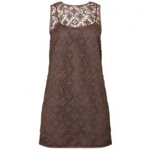 Louis Vuitton Brown Midi Dress