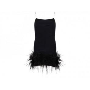Marchesa Notte Black Midi Dress