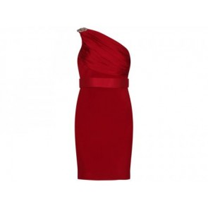 Marchesa Notte Red Midi Dress