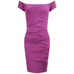 Nicole Miller Purple Midi Dress