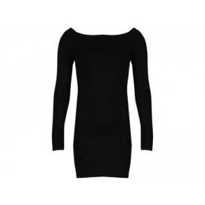 Torn by Ronny Kobo Black Midi Dress