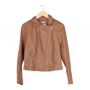 Stradivarius Brown Leather Jaket