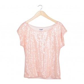Express Peach Sequins Blouse