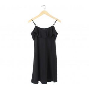 Zara Black Off Shoulder  Mini Dress