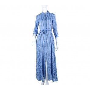 Banana Republic Blue Striped Long Dress