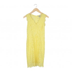 H&M Yellow Lace Mini Dress
