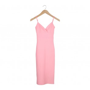 Miss Selfridge Pink Midi Dress