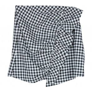Zara Black And White Plaid Skirt