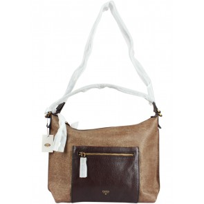 Fossil Brown Vickery Shoulder Bag
