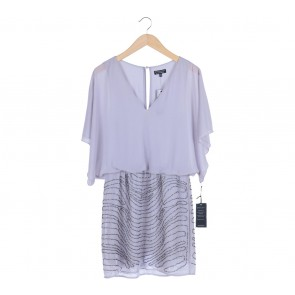 Warehouse Purple Beaded Mini Dress