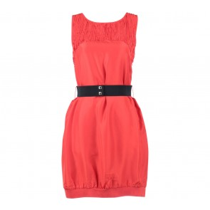 Armani Exchange Orange Sleeveless Mini Dress