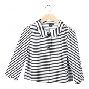 iRoo Black And White Striped Blazer