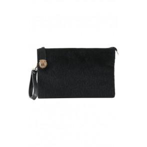 Black Furry Clutch