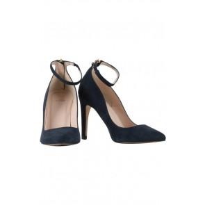 J&P Lito Blue Suede Pointy Heels