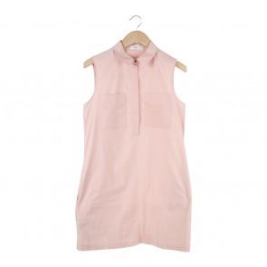 Mango Pink Sleeveless Mini Dress