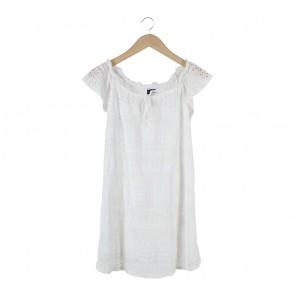 Topshop Off White Bardot Mini Dress