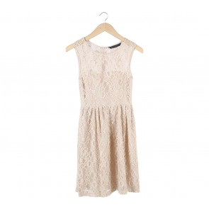 Zara Cream Lace Sleeveless Mini Dress
