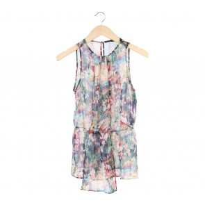 Zara Multi Colour Floral Sleeveless