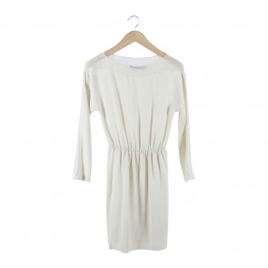 Zara Off White Sheer Insert Mini Dress