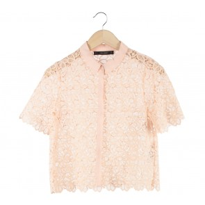 Zara Peach Lace Shirt