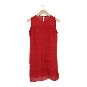 Zara Red Sleeveless Mini Dress
