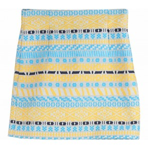 Zara Multi Colour Aztec Skirt