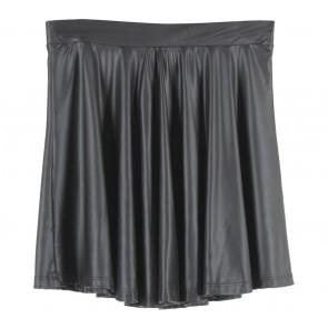 Bershka Black Latex Mini Skirt