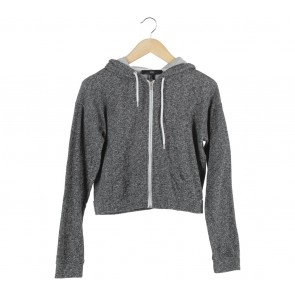 Forever 21 Grey Cropped Jaket