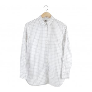 UNIQLO White Plaid Shirt
