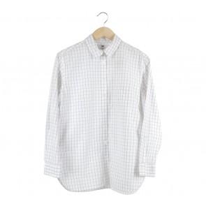 UNIQLO White Plaid Shirt